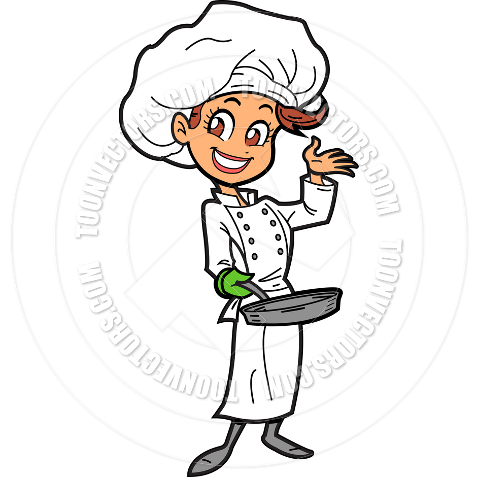 Free old lady cooking clip art