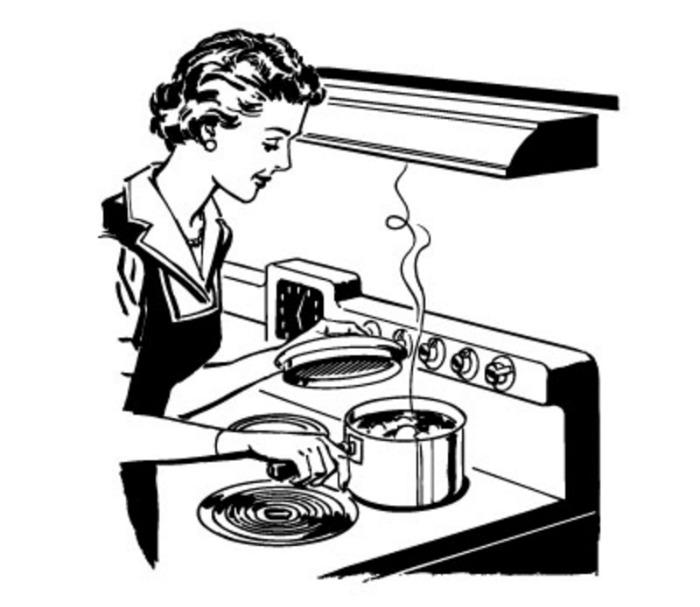 700x607 Kitchen Clipart Woman