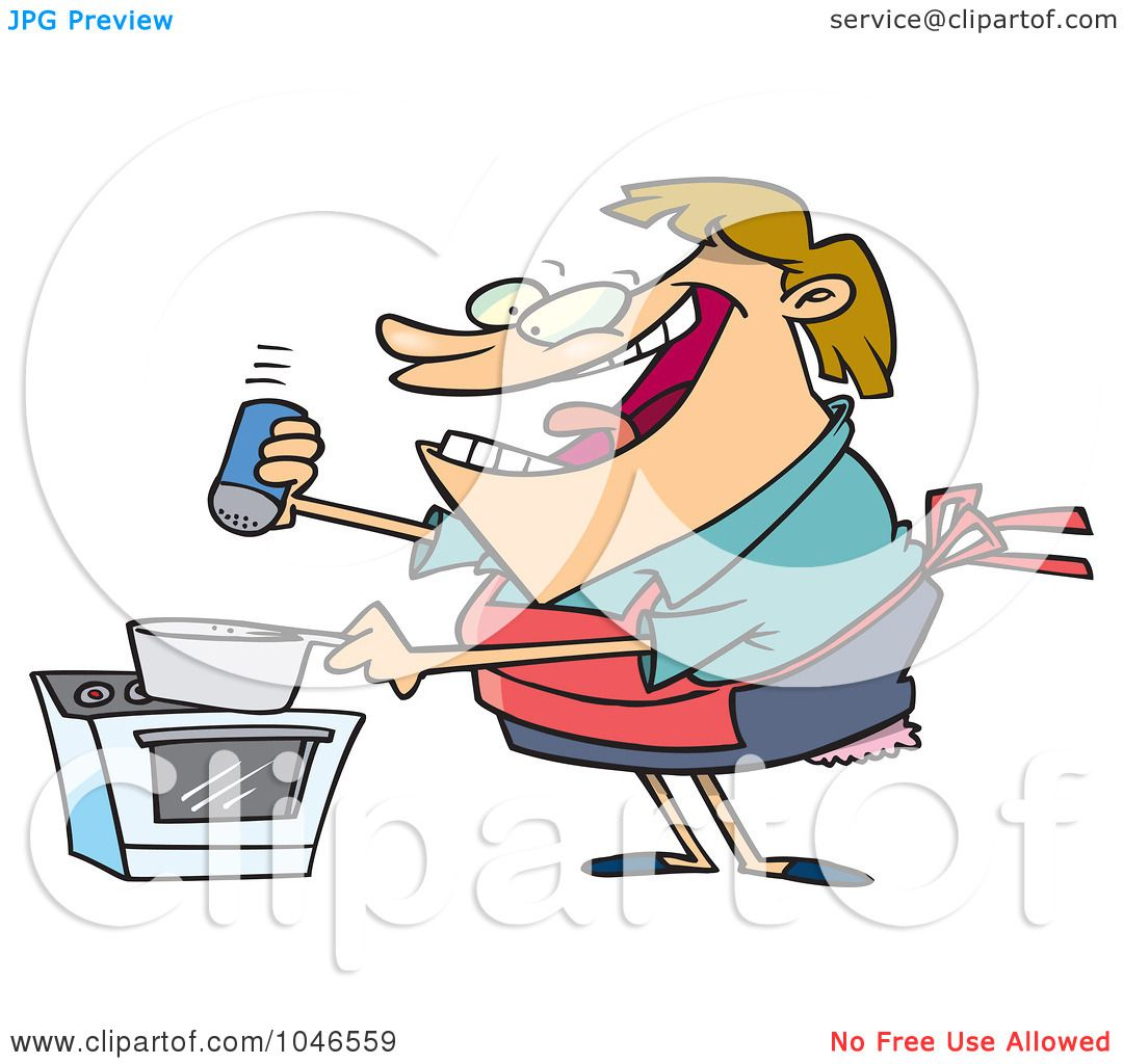 1080x1024 Royalty Free (Rf) Clip Art Illustration Of A Cartoon Cooking Woman