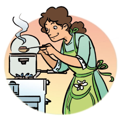 500x500 Woman Clipart Cooking Dinner