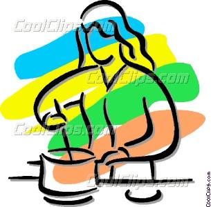 305x300 Woman Cooking Vector Clip Art