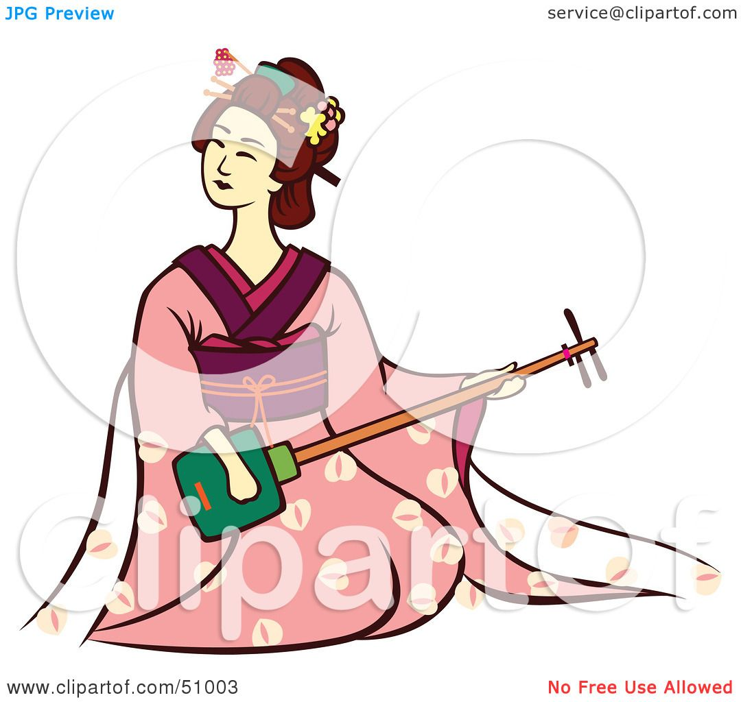 1080x1024 Royalty Free (Rf) Clipart Illustration Of A Pretty Geisha Woman