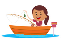 200x146 Fisherman Clipart Caught