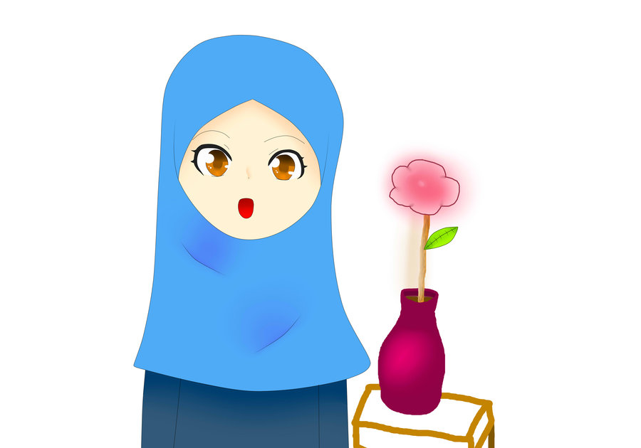 900x630 Girl With Hijab Clip Art