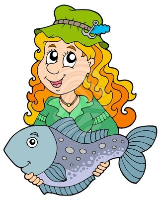 322x400 Woman Fishing Clipart Free Images 4