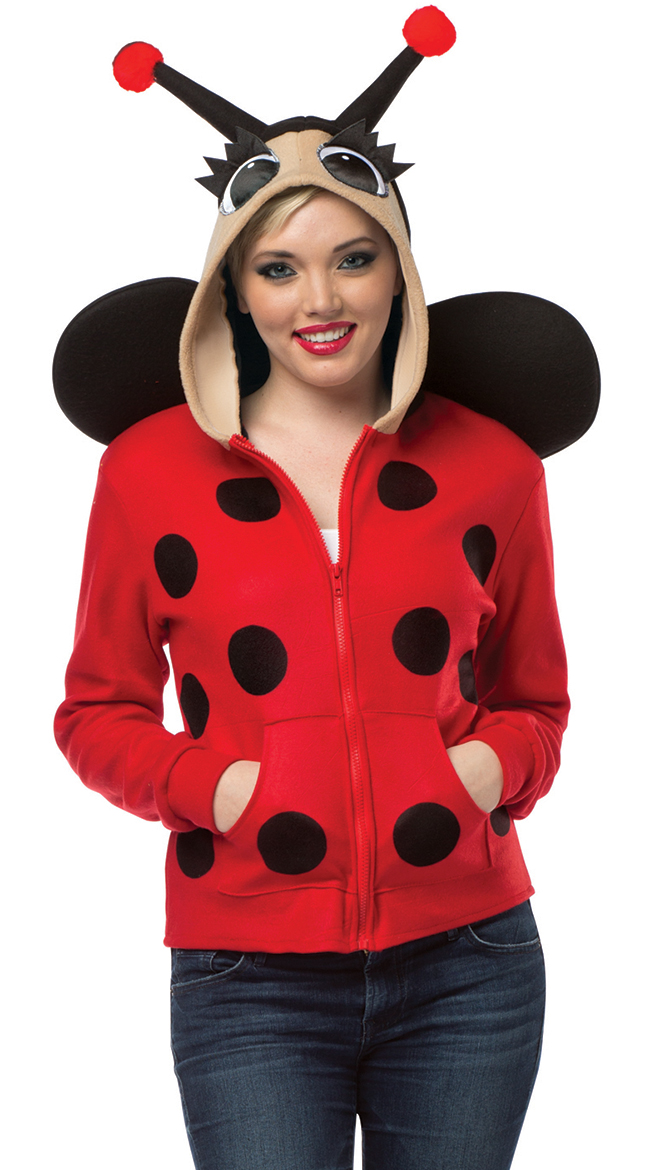 650x1170 Diy Adult Ladybug Costume Lady Bug Hoodie Costume Adult Lady Bug