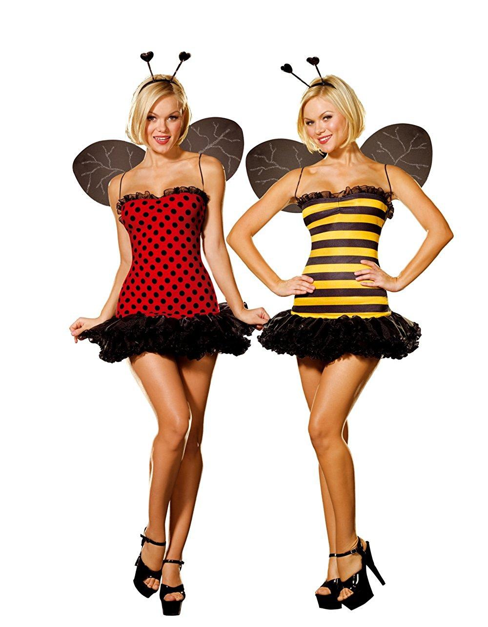1000x1284 Dreamgirl Women's Reversible Bumble Beelady Bug