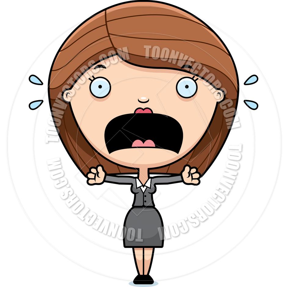 940x940 Woman Nervous Clipart