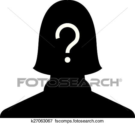 450x412 Clip Art Of Anonymous Female Profile Picture K27063067