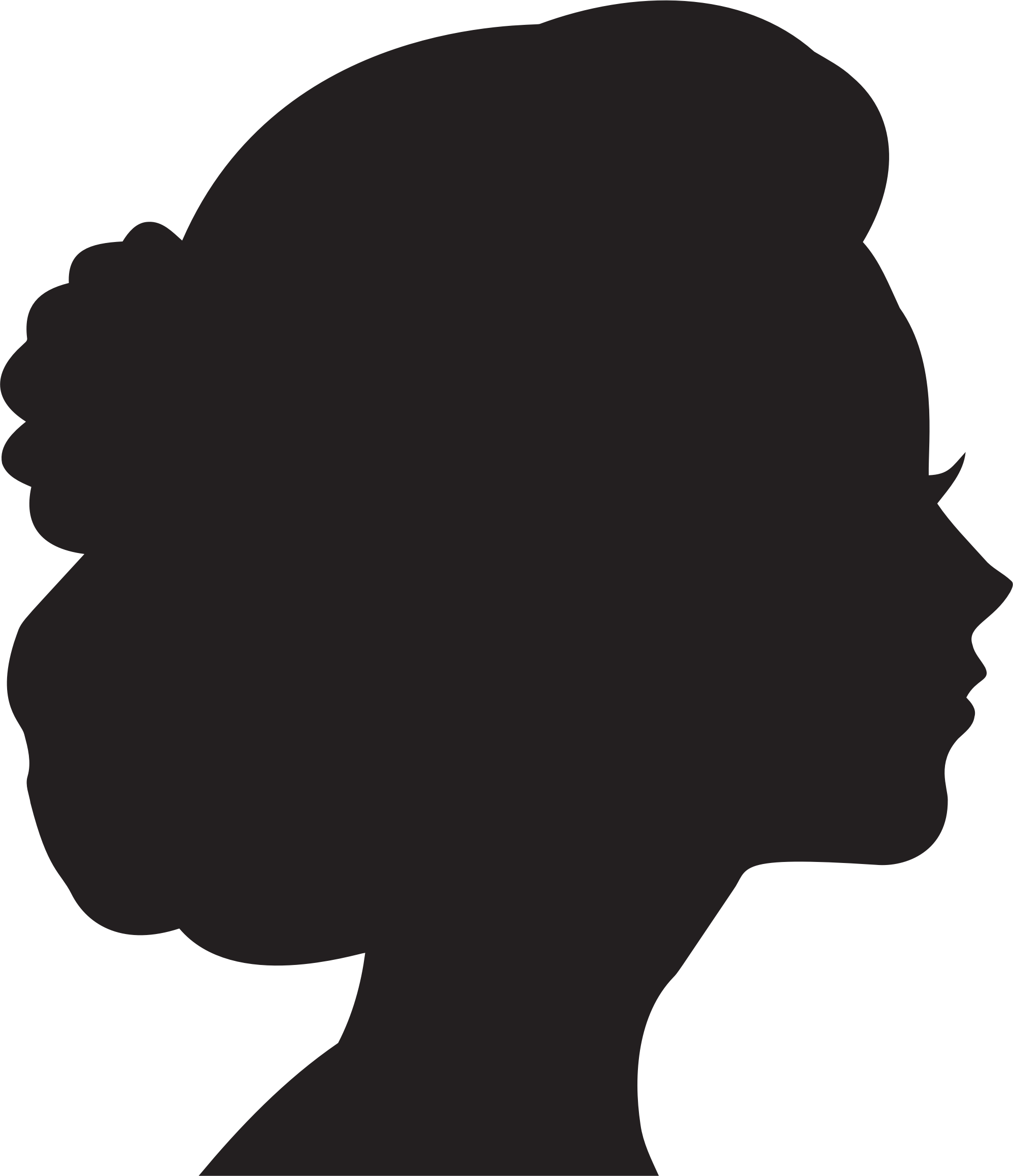 209ed5cea Woman Profile Silhouette Clipart | Free download best Woman Profile ...