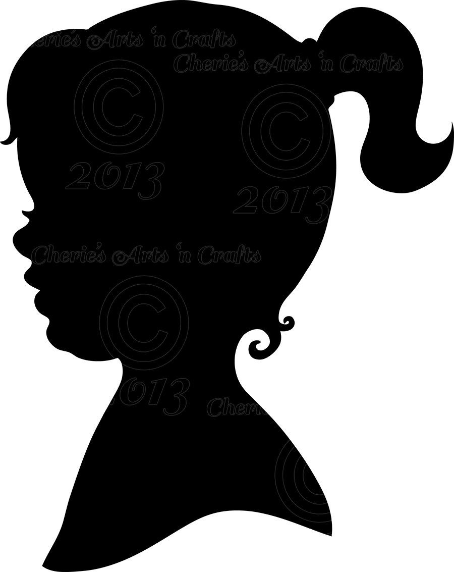 900x1133 Instant Download Little Girl Silhouette Png By Cheriesartsncrafts