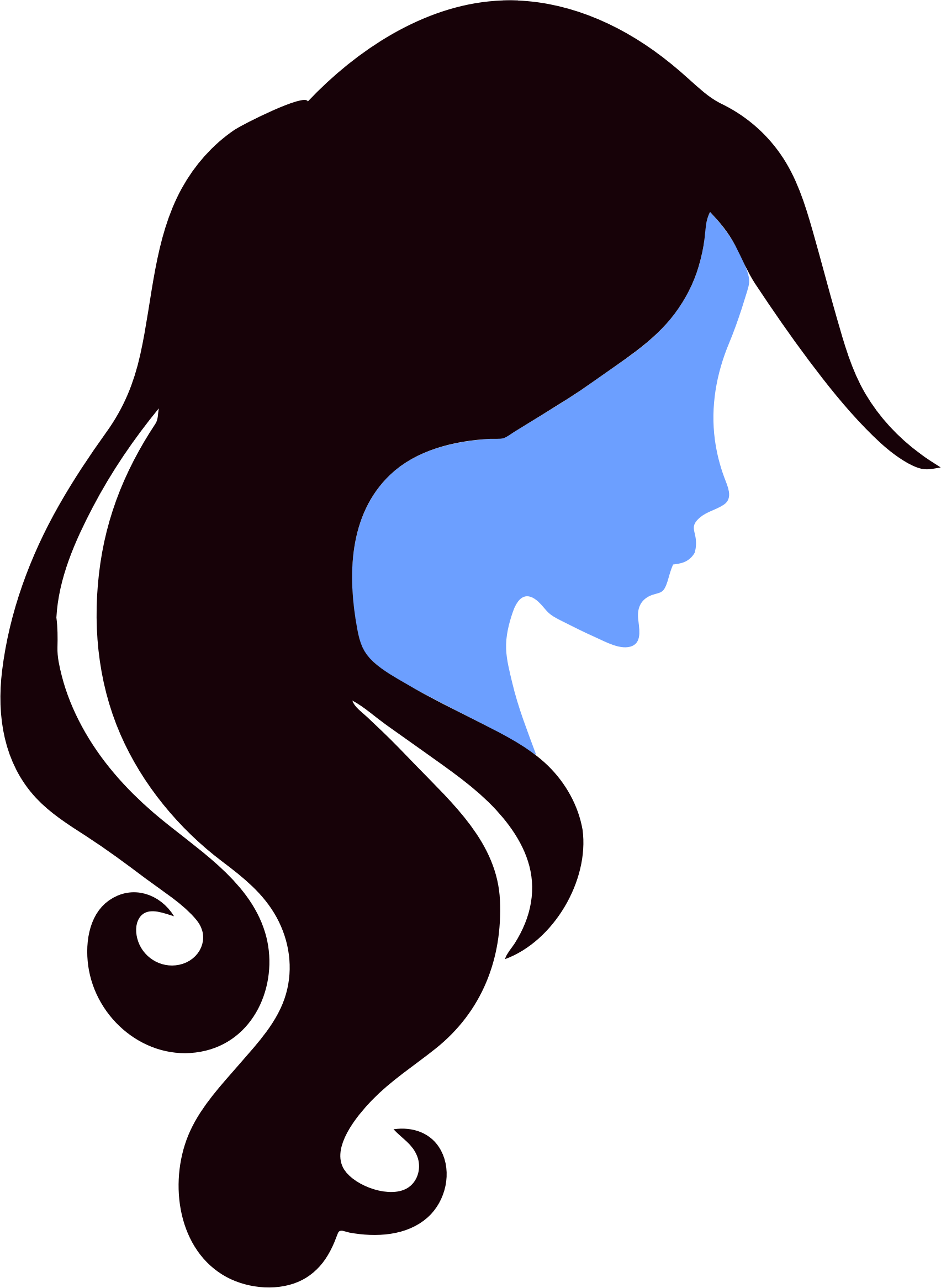 Woman Profile Silhouette Clipart Free Download Best