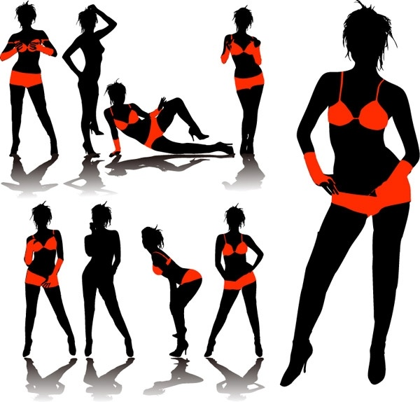 600x574 Woman Face Profile Silhouette Free Vector Download (8,462 Free