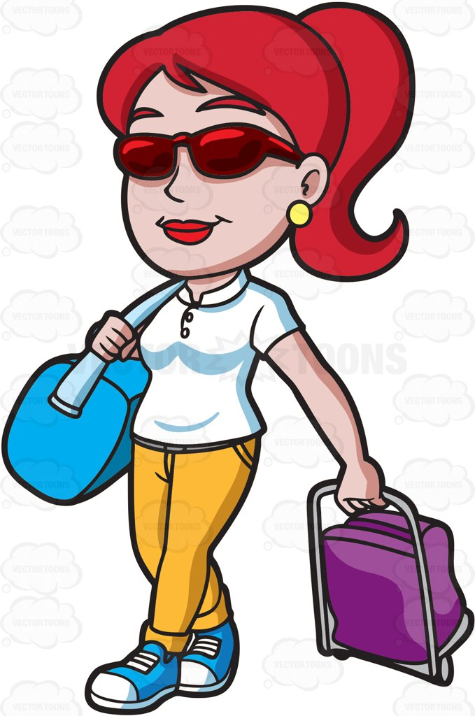 679x1024 Travel Clipart Lady