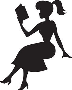 Woman Reading Book Clipart