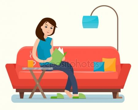 450x359 Woman Reading Book Stock Vectors, Royalty Free Woman Reading Book