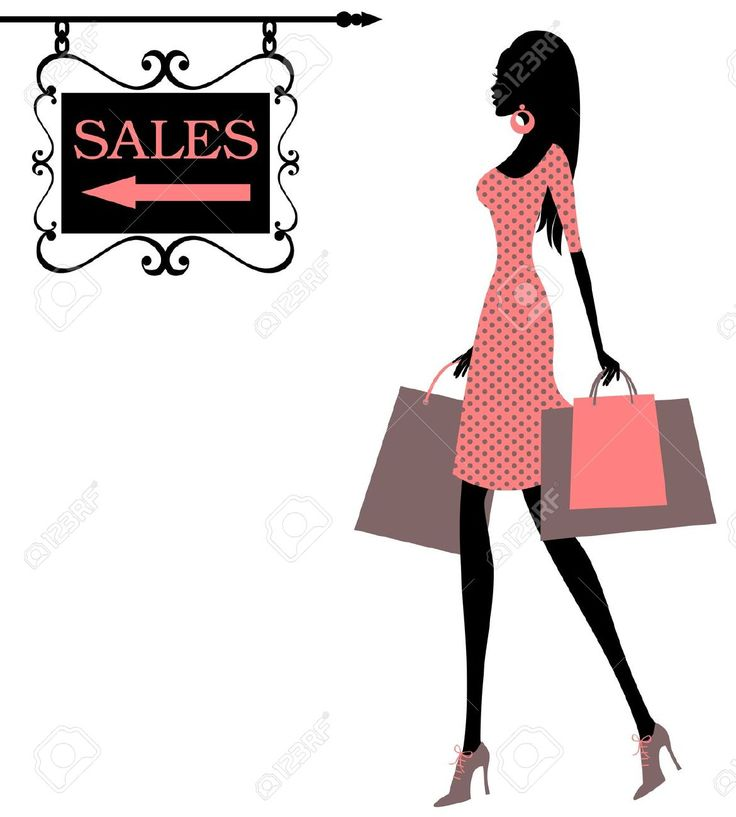 Woman Shopping Clipart