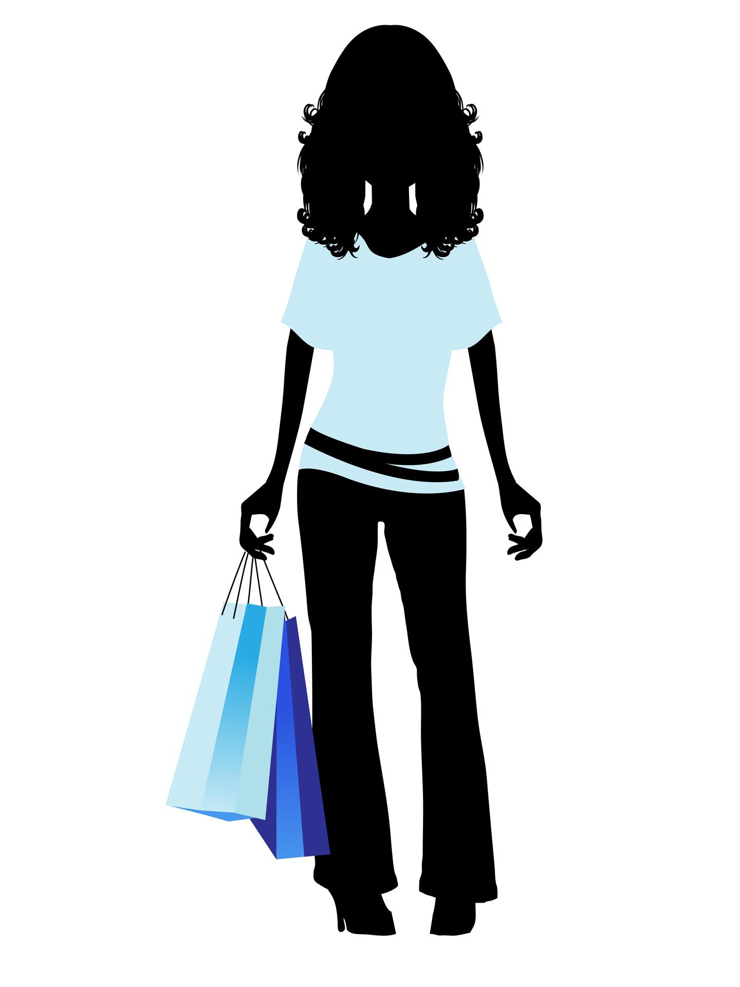 1440x1920 Fashion Shopping Girl Clipart Free Stock Photo