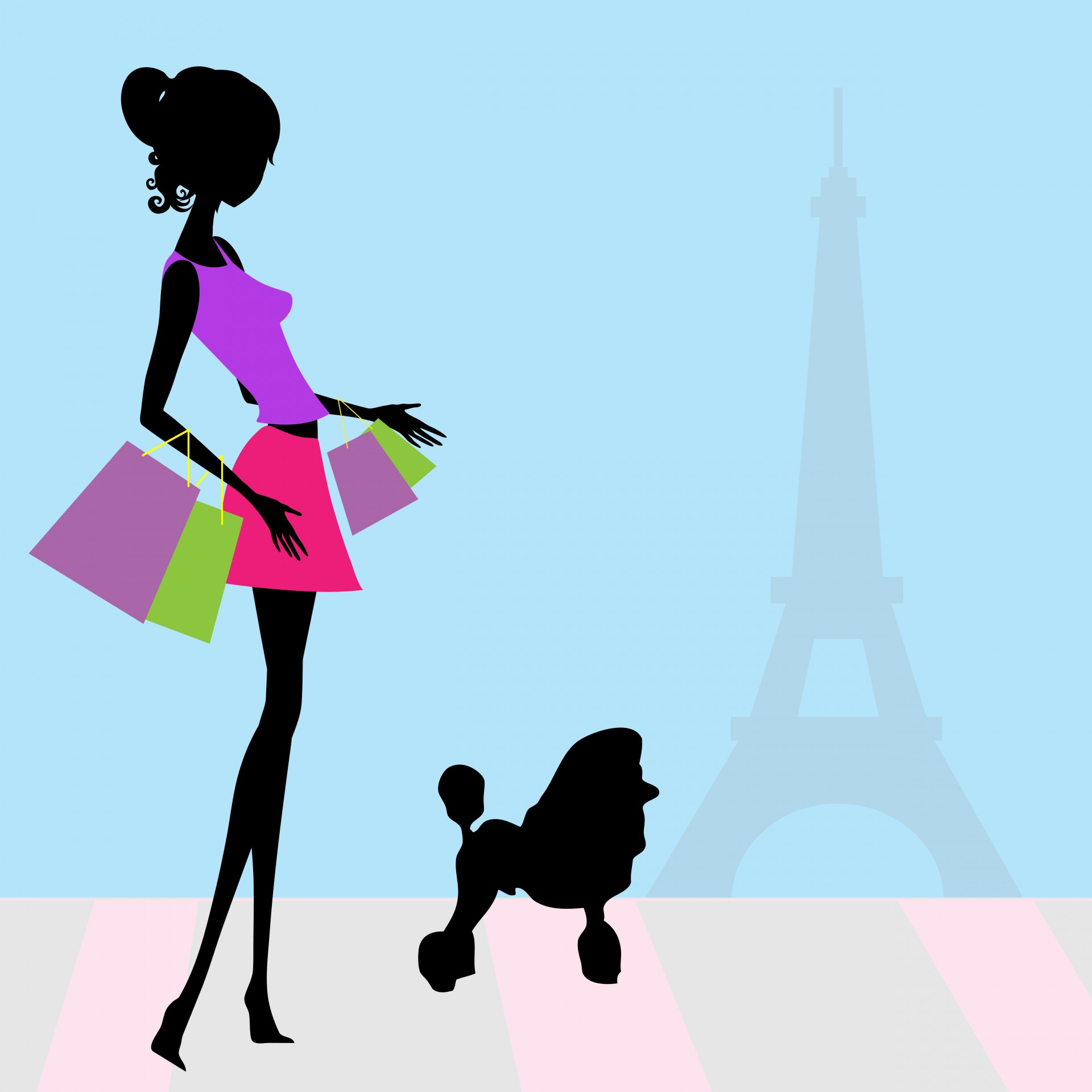 1920x1920 Fashion Woman Shopping Paris Free Stock Photo