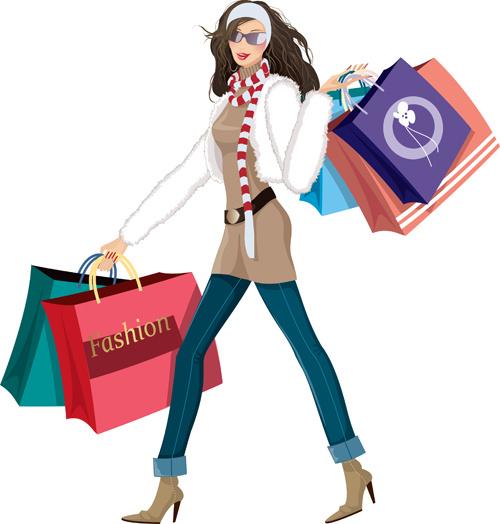 500x524 Fashion Shopping Girls Clip Art Free Vector Download (214,251 Free