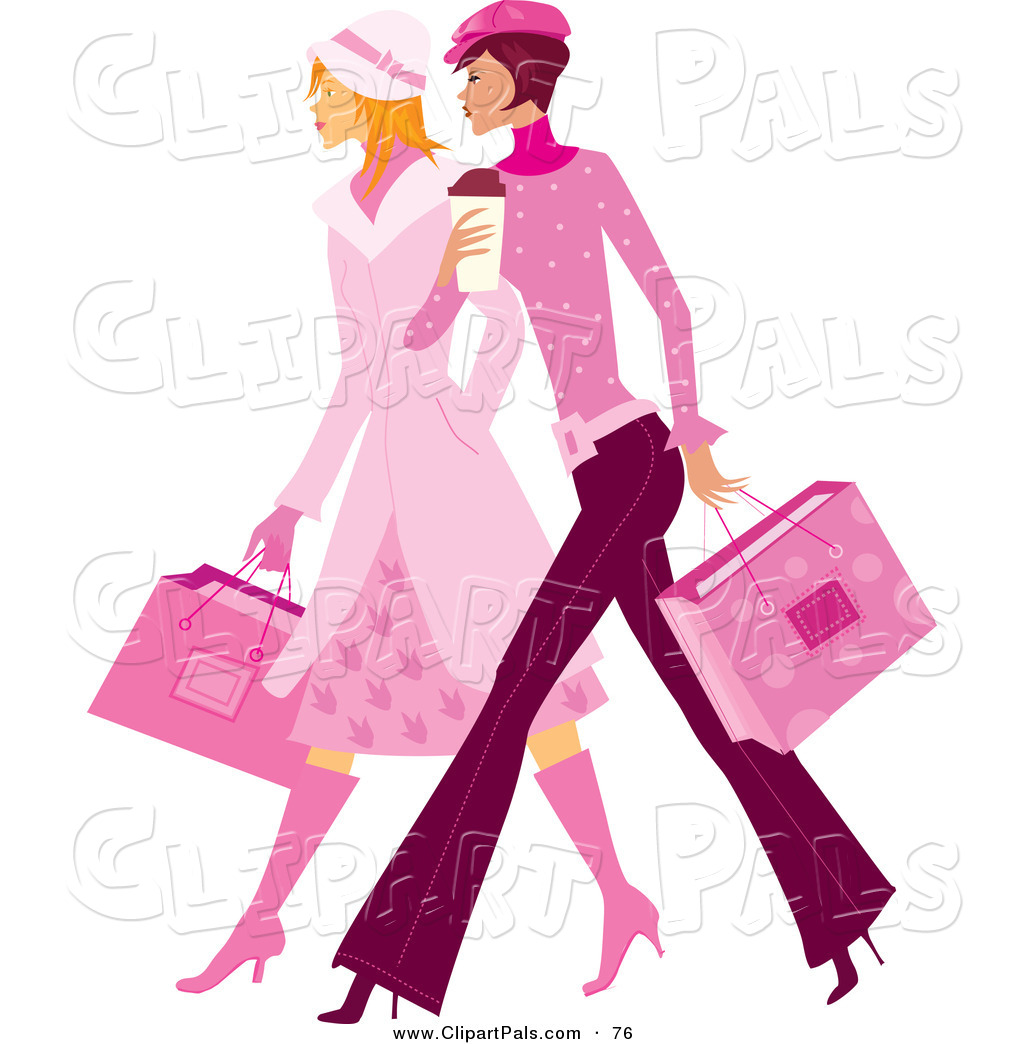 1024x1044 Pal Clipart Of A Couple Of Stylish Ladies In Pink, Walking