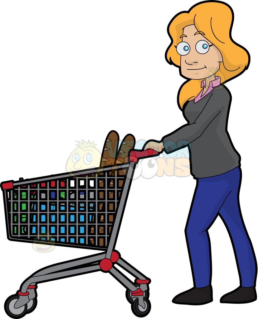 827x1024 Women Clipart Grocery Shopping