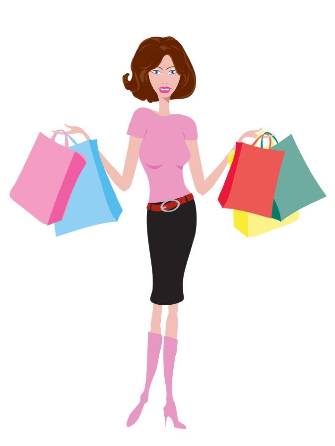 675x900 Woman Shopper Clip Art Mt Joy Gift Amp Thrift