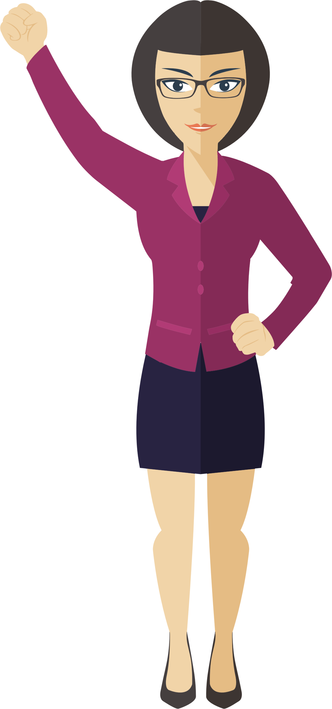 Woman Standing Clipart | Free download on ClipArtMag