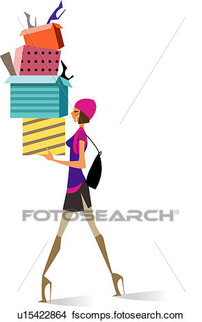 295x470 Drawings Of Side Profile Of A Woman Walking And Carrying Gifts