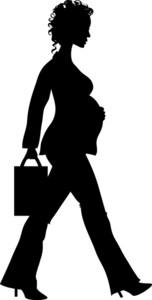 152x300 Pregnant Woman Clipart Image