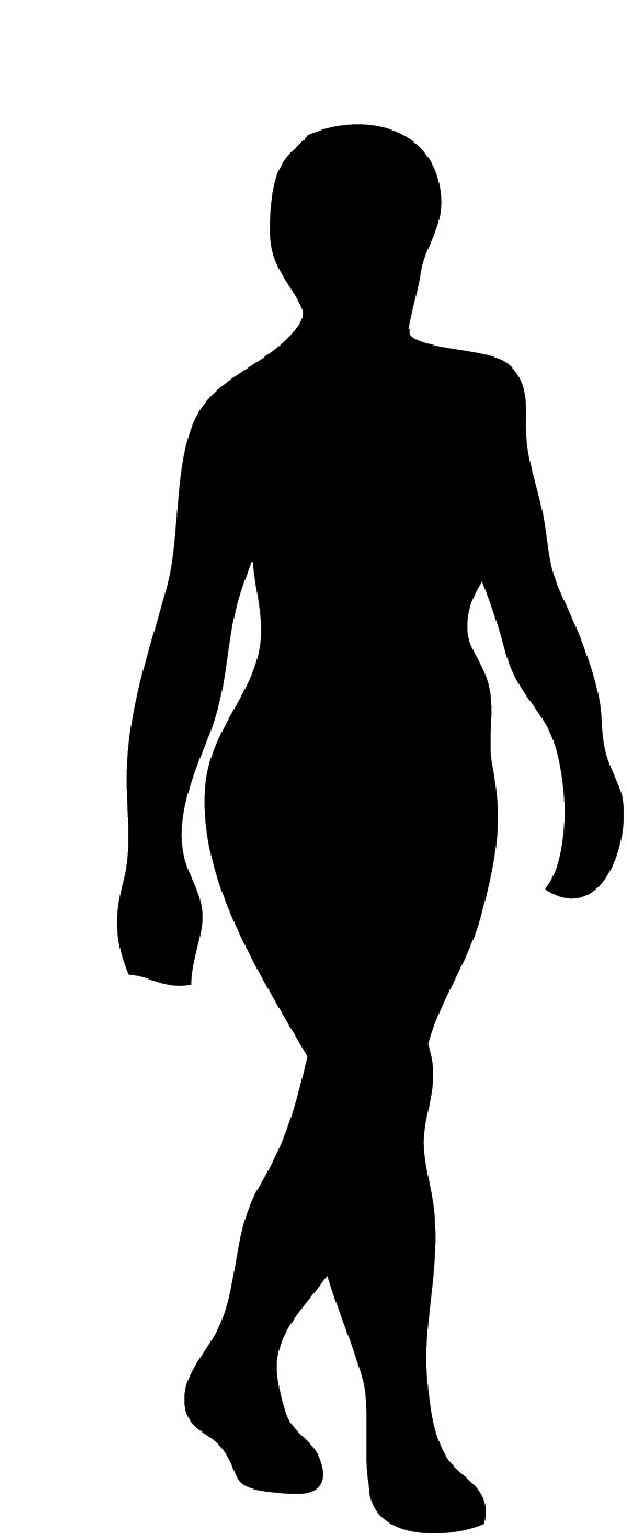 572x1404 Silhouette Man Walking Clipart