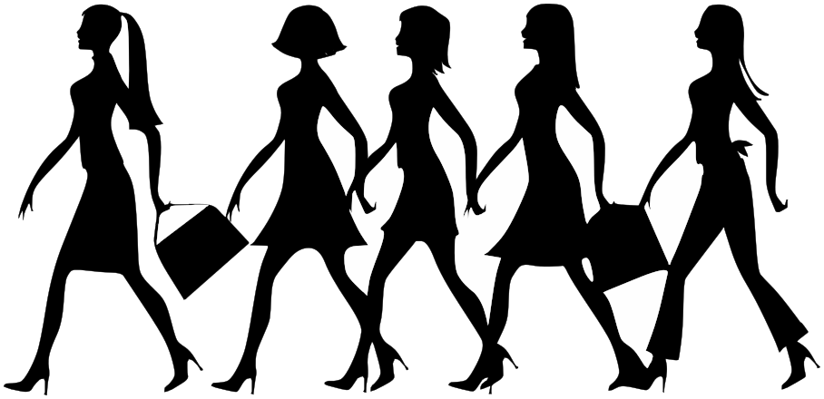 908x440 Women Walking Clip Art Download