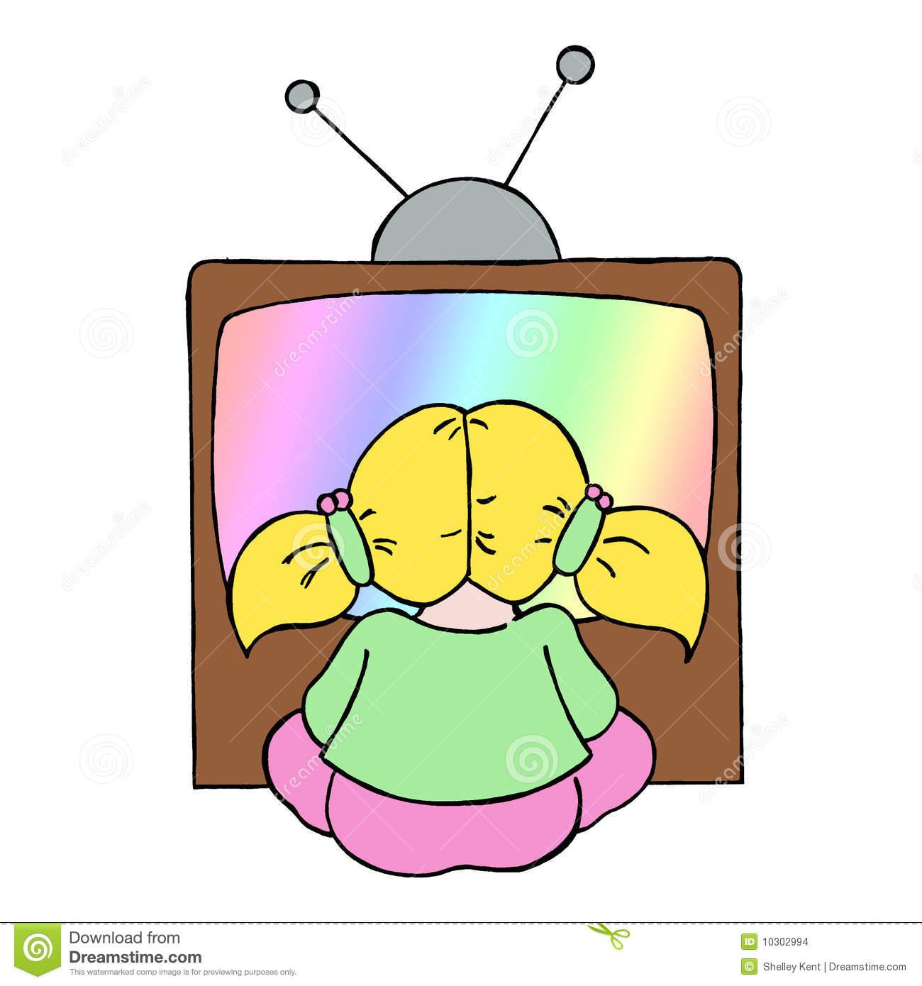 1300x1390 Cartoon Watching Tv Clipart