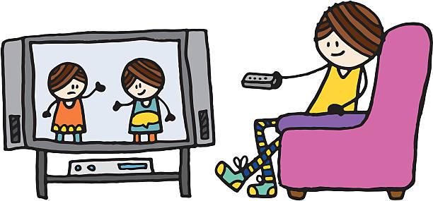 612x285 Girl Watching Tv Clipart 101 Clip Art