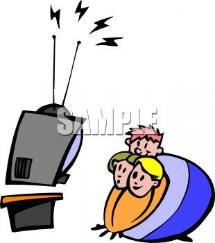 310x350 Tv Clipart Watchig