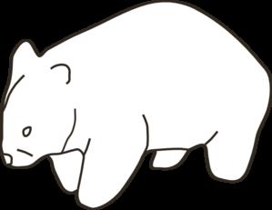 299x231 Wombat Template Neutral Clip Art