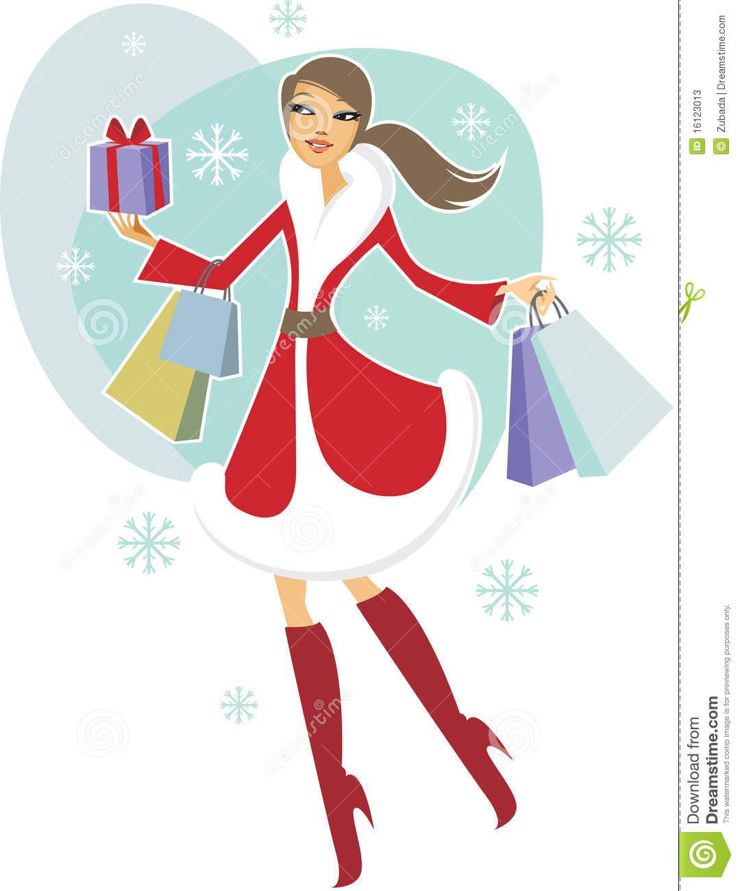 1080x1300 Women clipart christmas shopping