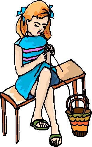 307x488 Knitting Women Clipart
