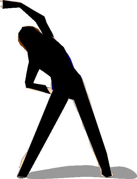 456x594 Woman Exercising Clip Art
