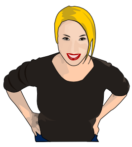 267x298 Woman Looking Up Clip Art