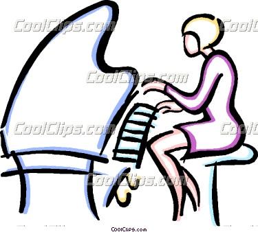 375x338 Women Clipart Pianist