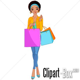 324x324 Free Clip Art Woman Shopping