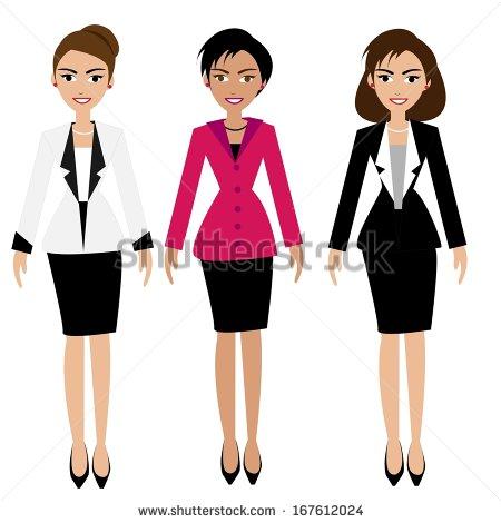 450x470 Business Women Clipart