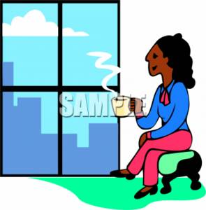 295x300 Clipart Picture Ofnfricanmerican Woman Taking Break