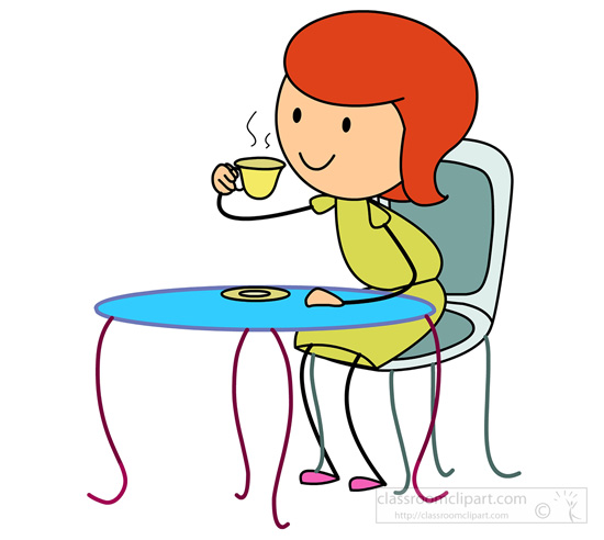 550x492 Drinking Coffee Clipart
