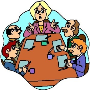 297x300 Clip Art Of Women Committee Meeting Clipart Cliparthut