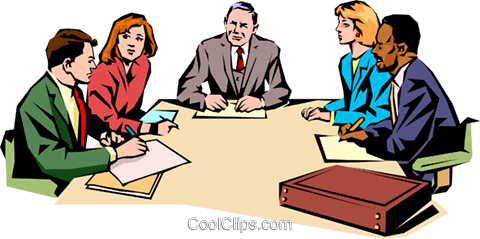480x239 Men Amp Women Meeting Royalty Free Vector Clip Art Illustration
