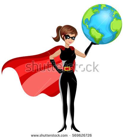 414x470 Woman Clipart Superhero