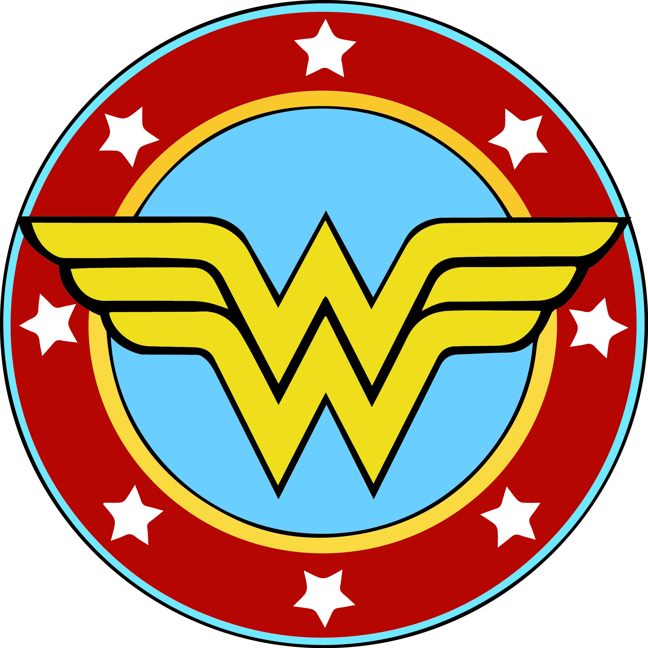 2116x2116 Wonder Woman Svg