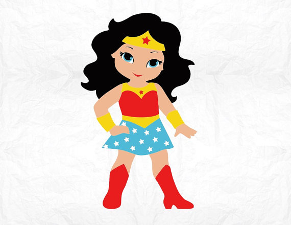570x440 Superhero Girl Digital File Svg Png Dxf Eps Pdf